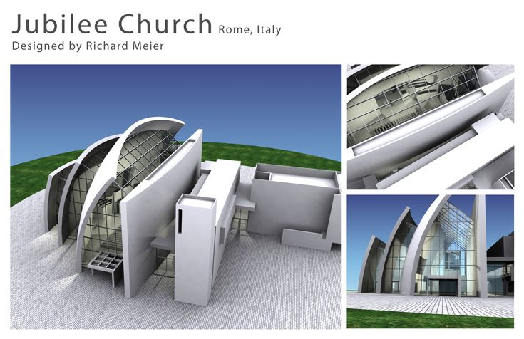 The jubilee church by richard meier architecture model for The jubilee church