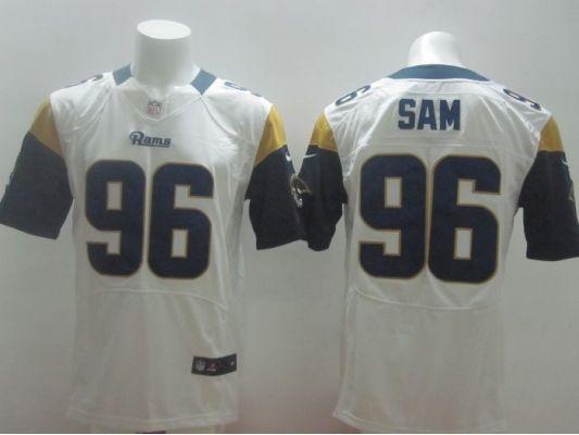 ... St. Louis Rams 96 Michael Sam White 2014 Nike NFL Elite Jerseys ... 775b664a0
