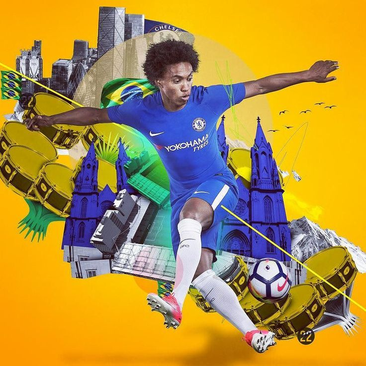 @willianborges88 dazzling in Chelsea FC's brand new @nikefootball home kit. Get yours now via the link in our profile.