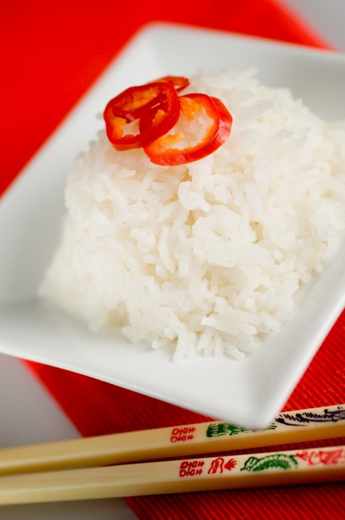 Cooking rice in the Thermal Cooker: use less water, because the steam is trapped.  This recipe: 8 cups water to 5 cups white rice (or 4 cups water to 2.5 cups white rice for smaller pot). Bring to boil, stir for 4 min before placing in outer container.