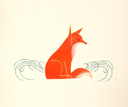 Katty Maurey: Foxes Illustrations, Foxillustration01Jpg 600496, Katty Maurey, Small Tattoo, Heart Art, Feelings Foxy, Graphics, Friday Foxes, Red Foxes