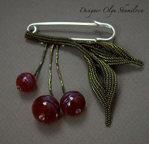 Брошь 'Cherries'