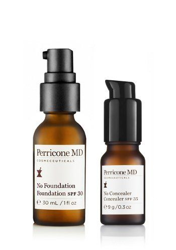 Perricone MD No Makeup Makeup Duo by Perricone MD. $85.00. Advanced anti-aging benefits. Mineral based formula. SPF protection against UVA and UVB. No Foundation Foundation, 1oz - The first advanced anti-aging, multi-tasking translucent foundation with non-chemical, mineral-based SFP 30 protection. Created to keep skin looking dewy and flawless, this unique formula delivers many benefits of a traditional foundation without the heavy matte finish, which emphasizes the tin...