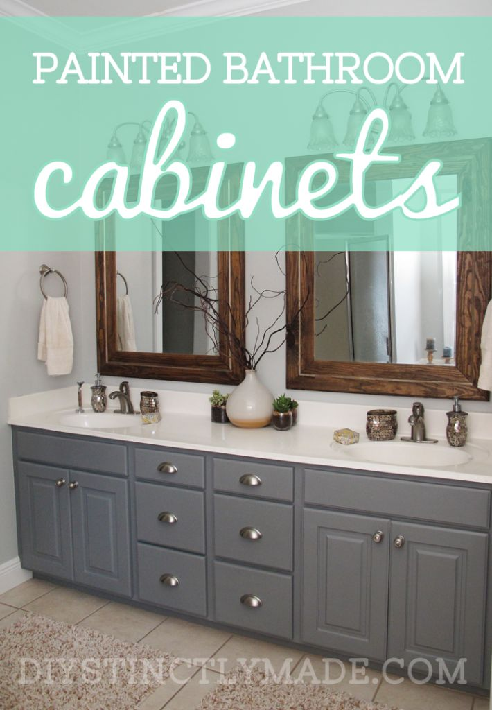 Diy bathroom cabinet painting