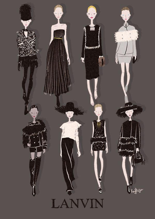 LANVIN 2014 F/W ©Illustrated by Minjee Kang. All Rights Reserved