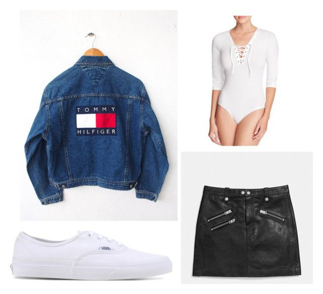 Vintage denim sexy style by genyapol on Polyvore featuring polyvore ファッション style Coach Vans vintage fashion clothing