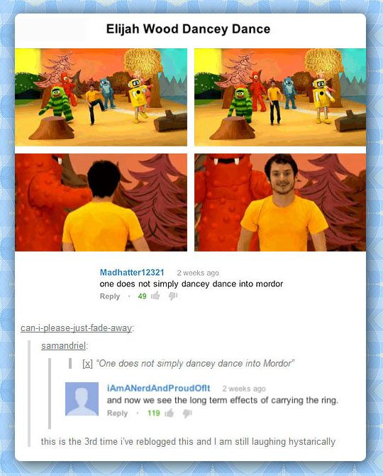 xD Could you just imagine yo gabba gabba being the fellowship that leads Frodo to Mordor.
