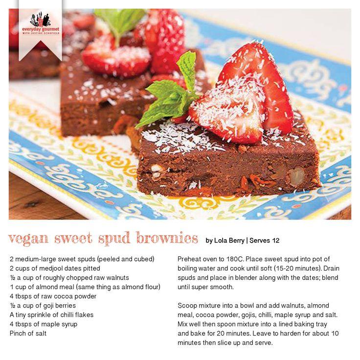 Recipe for Vegan Sweet Spud Brownies