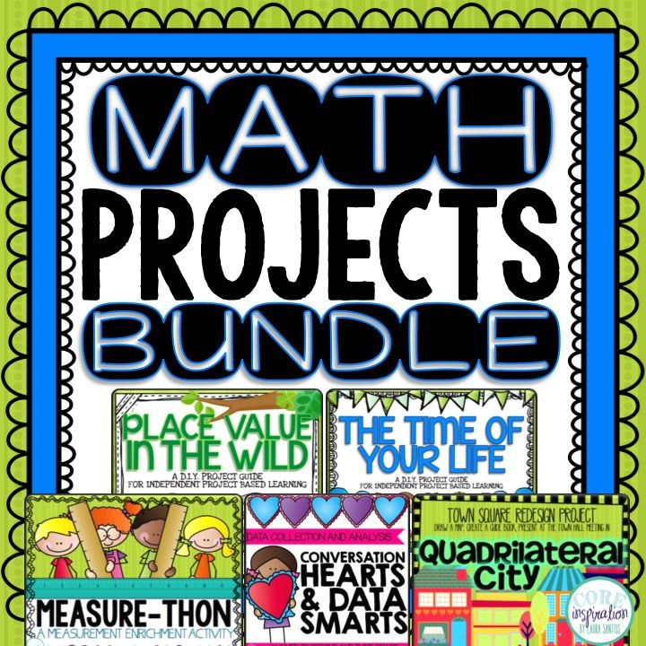 Oh my math projects!  This bundle includes five math enrichment projects: Place Value In Wild (place value math project), Time of Your Life (telling time math project), Quadrilateral City (geometry math project), Measure-Thon (measurement math simulation), Conversation Hearts and Data Smarts (data and graphing math project).
