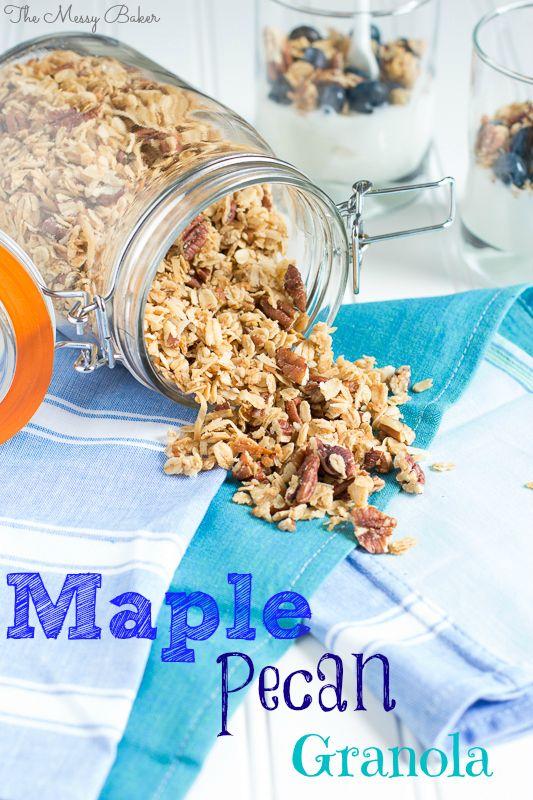 Maple Pecan Granola | v e g a n | Pinterest