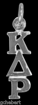 Kappa Delta Rho Sterling Greek Letter Lavalier NEW