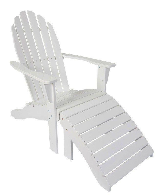 Cinas Rosenborg Loungestol - Hvid - Flot hvilestol med fodskammel. Tilpasset moderne komfort og bløde konturer. Udført i kraftig mahogni med stærk, hvid lakering for at optimere overfladen til brug i det skandinaviske klima.