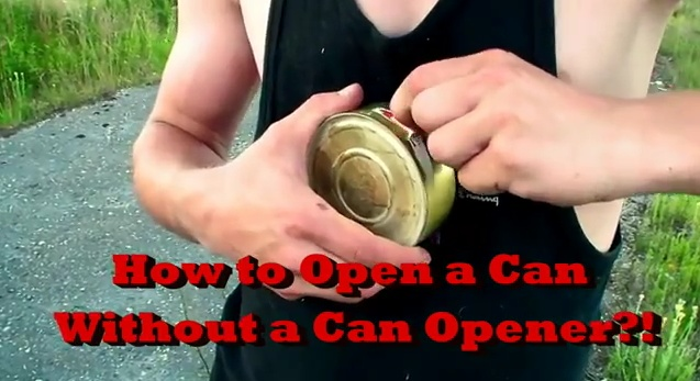 how to open a can without a can opener survival