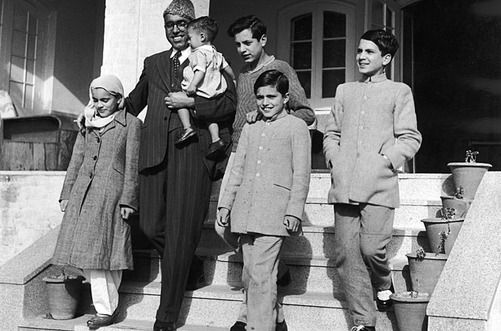 Sheikh Abdullah and family in Kashmir.  He played central role in politics of Jammu & Kashmir -  | itimes