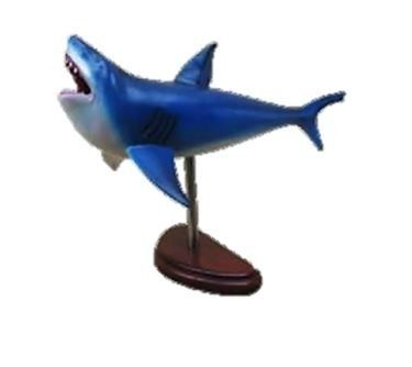 Great White Shark Fish on Base 2 1/2