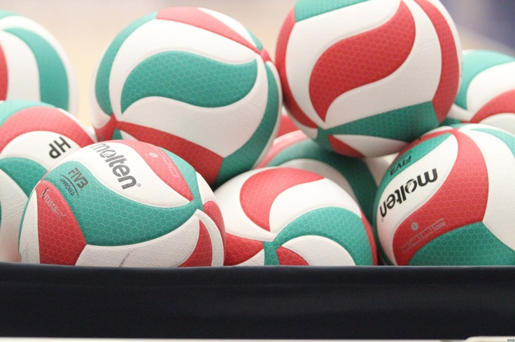 Molten volleyballs at the USA Volleyball High Performance Coaches' Clinic. http://usavolleyball.org - Photo courtesy of USA Volleyball.