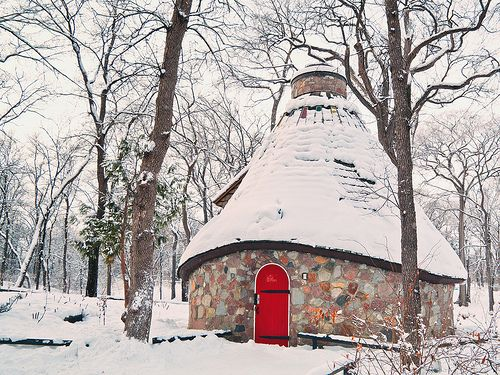 The Witches Hut (from the Hansel and Gretel tale) North Kildonan Park, Winnipeg. This place scared the crap out of me as a kid but I love it anyway. It's great inside too.