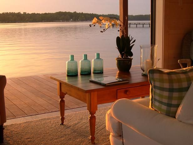 sitting room with glass garage doorDecks House, Dock House, Garages Doors, Dreams Home, Lakes House, Outdoor Living, Dreams Dock, Guest House, Dreams House