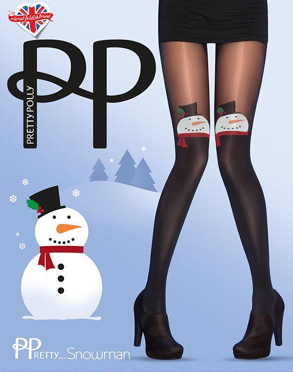 De allerleukste kerst panty van Pretty Polly de Pretty ...Snowman verkrijgbaar bij www.sexychic.nl
