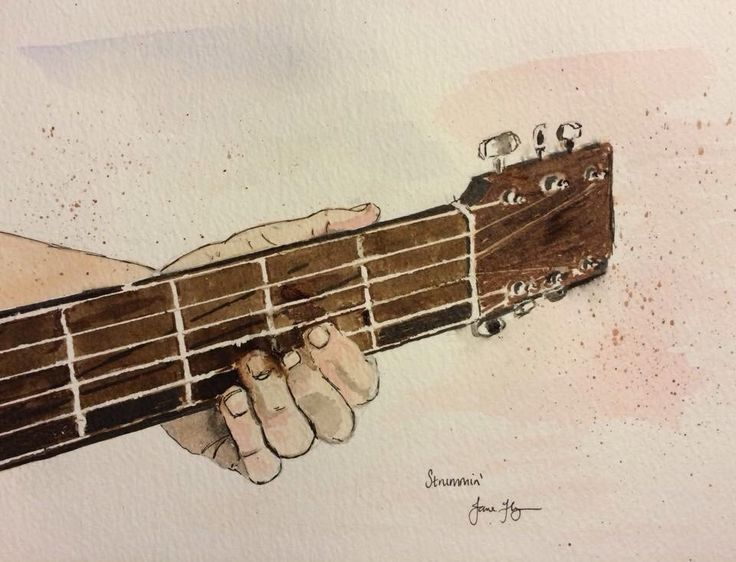 Guitar watercolour