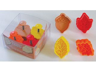 Plunger Style Autumn Cookie Cutter Set | Cheap Cookie Cutters