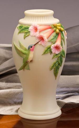 Hummingbird Trumpet Flowers Vase