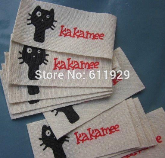 Cotone tessuto etichette/tag abbigliamento personalizzato/vestiti di stampa di etichette/tag shirt/indumento su misura logo/nastro/marca di Trasporto Libero