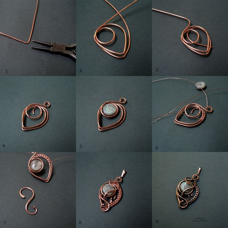 436 best wire wrapped jewelry tutorials images on pinterest wire diy jewelry picture wire jewelry tutorial pendant with beads or could be used for earrings mozeypictures Image collections