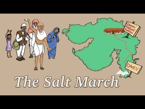 "Mahatma Gandhi, The Salt March, The Dandi March - Story for Children ""BookBox.com"" - YouTube"