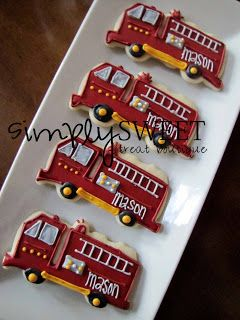 SimplySweet Treat Boutique: Firefighter Cookies