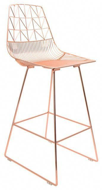 Modern Counter Stool Ideas Copper Wire Counter Stool Best Kitchen Stools And Bar Stools Trendy Counte Kitchen Stools Modern Counter Stools Counter Stools