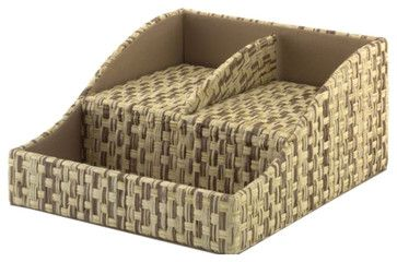 Kathy Ireland by Volcano Dusk Bush Charging Station in Grass Weave-Natural transitional-home-office-products