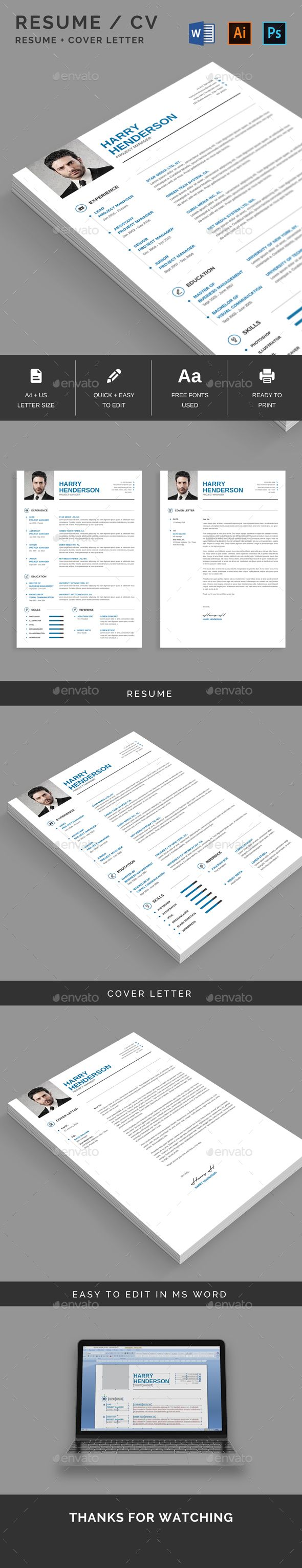 The 26 best Resume Template images on Pinterest