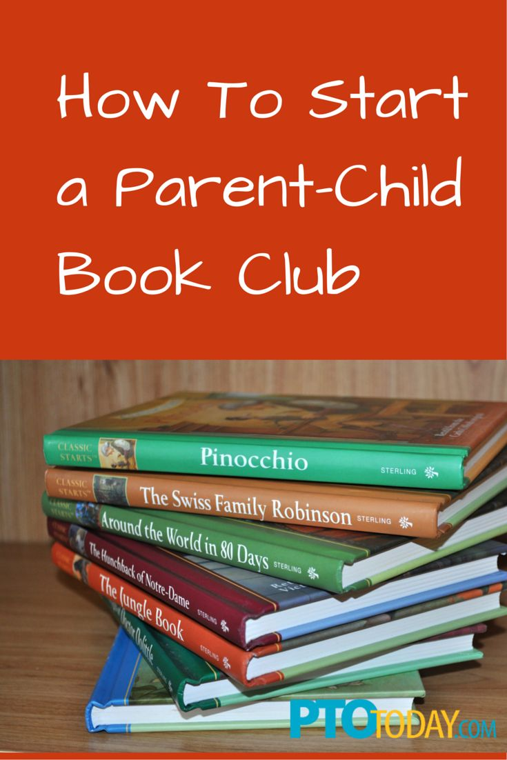Organize a parent-child book club -- great idea for a PTO or PTA!  #support #schools