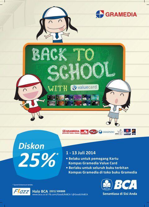 Gramedia: Promo Back To School, Diskon 25% (BCA) @gramediabooks
