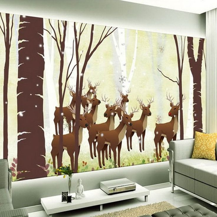 25 best ideas about deer wallpaper on pinterest for Deer mural wallpaper
