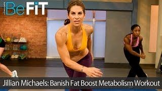 Banish Fat Boost Metabolism. This one gets it done. 45 minutes plus a warm-up and cool-down. I was exhausted afterwards. It incorporates plyometrics, calisthenics, core work, and kickboxing. No weights or equipment required.