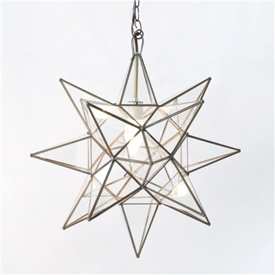 Deff getting one of these!: Clear Glasses, Stars Chandeliers, Stars Lighting, Moravian Stars, Folding Chairs, Pendants Chandeliers, Pendants Lighting, Clear Stars, Stars Pendants