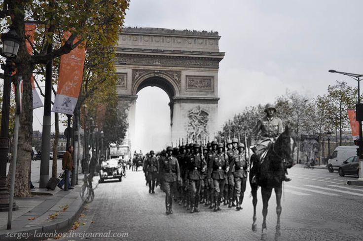 Extraordinary merging of past and present photos. Very powerful.