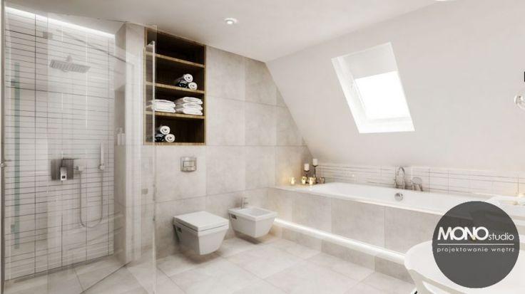 Biała łazienka na poddaszu - Lovingit.pl