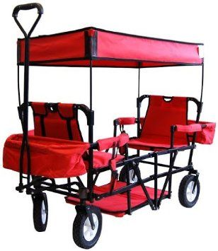 2-Seater Folding Wagon with Canopy