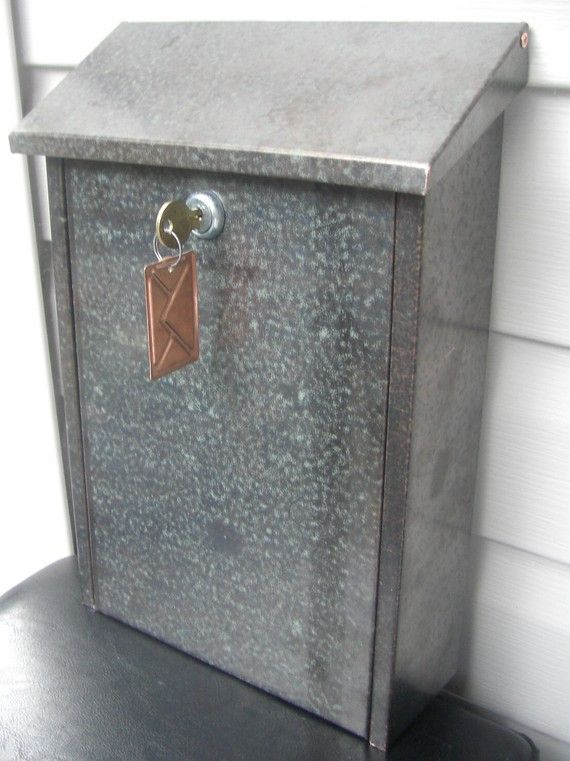 WALL MOUNT PATINA COPPER MAILBOX( 20 ounce)