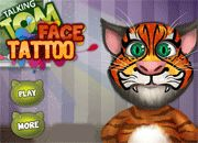 Talking Tom Face Tattoo