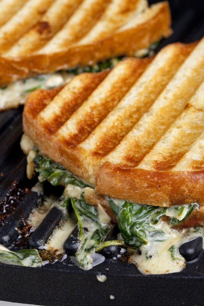 Emeril Lagasse's Grilled Spinach And Artichoke Dip Sandwich Recipe