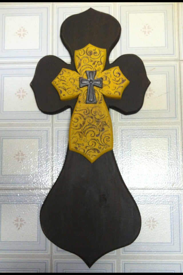 105 best Crosses images on Pinterest | Cross crafts, Cross walls and ...