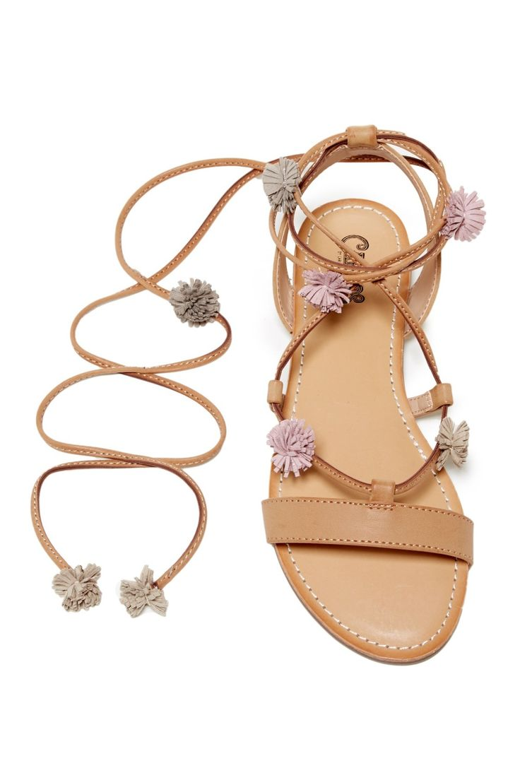 How adorable are these Carlos By Carlos Santana Gia Ghillie Wrap Sandals?!