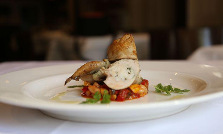 Seafood stuffed Quail