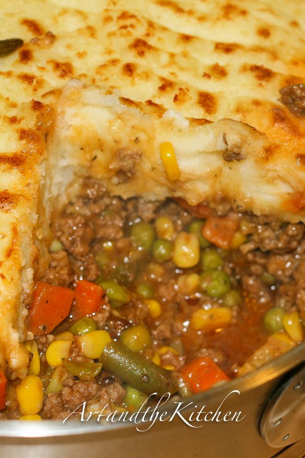 Super Shepherd's Pie recipe - the family will love this one! by Art and the Kitchen