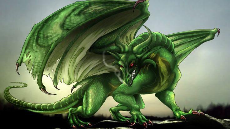 Green Dragon Fantasy Digital Art Hd Desktop Wallpaper