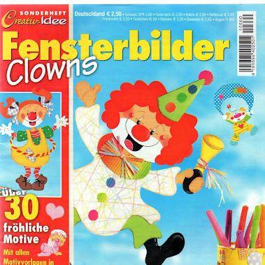 Sonderheft Fensterbilder Clowns